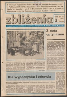 Zbliżenia : tygodnik społeczno-polityczny, 1986, nr 3
