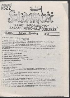 """Serwis Informacyjny Zarządu Regionu """"Pobrzeże"""" - Serwis Zjazdowy, nr 8"""