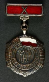 Medal 10-lecia Polski Ludowej + Legitymacja Nr 449663