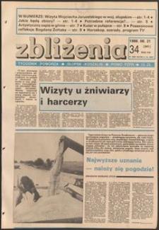 Zbliżenia : tygodnik społeczno-polityczny, 1986, nr 34