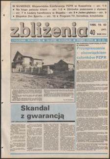 Zbliżenia : tygodnik społeczno-polityczny, 1986, nr 40