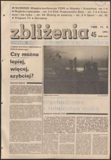 Zbliżenia : tygodnik społeczno-polityczny, 1986, nr 45