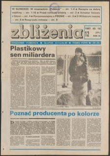 Zbliżenia : tygodnik społeczno-polityczny, 1987, nr 12