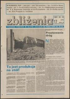 Zbliżenia : tygodnik społeczno-polityczny, 1987, nr 17