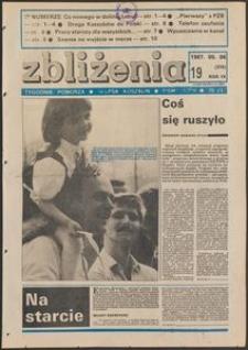 Zbliżenia : tygodnik społeczno-polityczny, 1987, nr 19