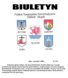Polskie Towarzystwo Numizmatyczne. Oddział Słupsk : biuletyn, 2005, nr 2
