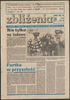 Zbliżenia : tygodnik społeczno-polityczny, 1987, nr 24