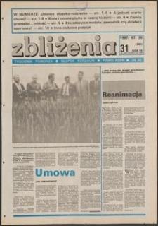 Zbliżenia : tygodnik społeczno-polityczny, 1987, nr 31