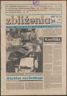 Zbliżenia : tygodnik społeczno-polityczny, 1987, nr 34