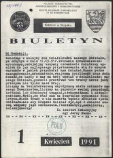 Polskie Towarzystwo Numizmatyczne. Oddział Słupsk : biuletyn, 1991, nr 1