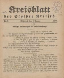 Kreisblatt des Stolper Kreises, 1890