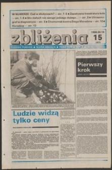 Zbliżenia : tygodnik społeczno-polityczny, 1988, nr 15