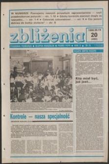 Zbliżenia : tygodnik społeczno-polityczny, 1988, nr 20