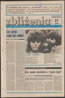 Zbliżenia : tygodnik społeczno-polityczny, 1988, nr 21