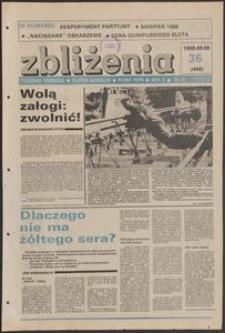 Zbliżenia : tygodnik społeczno-polityczny, 1988, nr 36