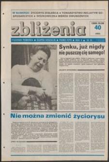 Zbliżenia : tygodnik społeczno-polityczny, 1988, nr 40