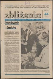 Zbliżenia : tygodnik społeczno-polityczny, 1988, nr 44