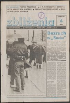 Zbliżenia : tygodnik społeczno-polityczny, 1989, nr 4