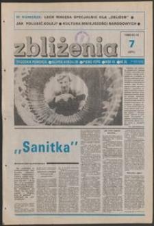 Zbliżenia : tygodnik społeczno-polityczny, 1989, nr 7