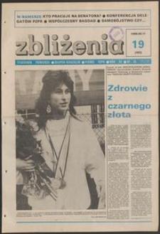 Zbliżenia : tygodnik społeczno-polityczny, 1989, nr 19