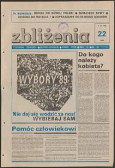 Zbliżenia : tygodnik społeczno-polityczny, 1989, nr 22