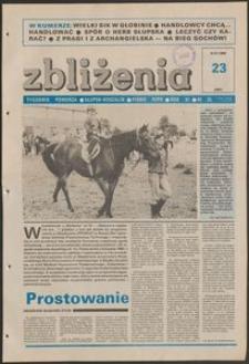Zbliżenia : tygodnik społeczno-polityczny, 1989, nr 23