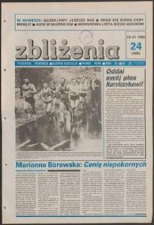 Zbliżenia : tygodnik społeczno-polityczny, 1989, nr 24