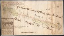Plan von der Grentze zwischen dem Stolpschen Stadt Eigenthums Dorff Damnitz und Adelichen Guth Starnitz
