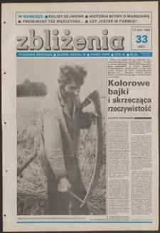 Zbliżenia : tygodnik społeczno-polityczny, 1989, nr 33
