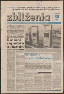 Zbliżenia : tygodnik społeczno-polityczny, 1989, nr 39