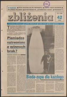 Zbliżenia : tygodnik społeczno-polityczny, 1989, nr 42