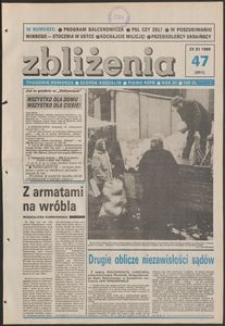 Zbliżenia : tygodnik społeczno-polityczny, 1989, nr 47