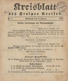 Kreisblatt des Stolper Kreises, 1892