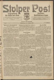 Stolper Post. Tageszeitung für Stadt und Land Nr. 2/1924