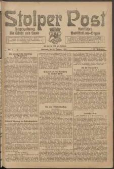 Stolper Post. Tageszeitung für Stadt und Land Nr. 7/1924