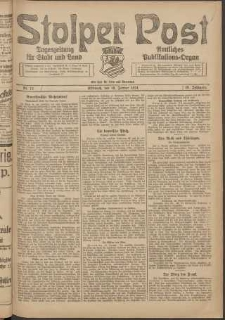 Stolper Post. Tageszeitung für Stadt und Land Nr. 13/1924