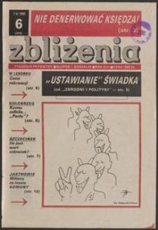Zbliżenia : tygodnik społeczno-polityczny, 1991, nr 6