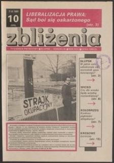 Zbliżenia : tygodnik społeczno-polityczny, 1991, nr 10