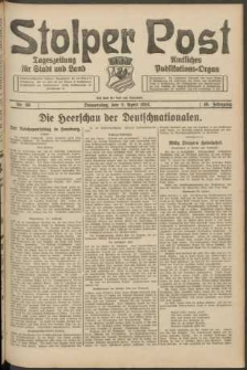 Stolper Post. Tageszeitung für Stadt und Land Nr. 80/1924