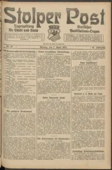 Stolper Post. Tageszeitung für Stadt und Land Nr. 83/1924
