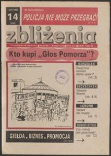 Zbliżenia : tygodnik społeczno-polityczny, 1991, nr 14