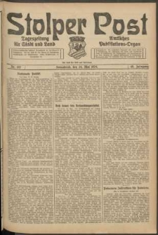 Stolper Post. Tageszeitung für Stadt und Land Nr. 122/1924