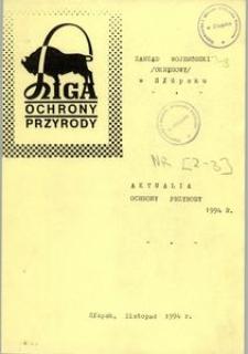 Aktualia Ochrony Przyrody, 1994, nr 2