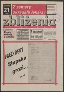 Zbliżenia : tygodnik społeczno-polityczny, 1991, nr 21