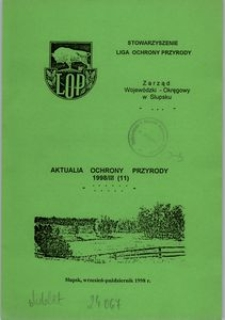 Aktualia Ochrony Przyrody, 1998, nr 11