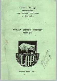 Aktualia Ochrony Przyrody, 1999, nr 13