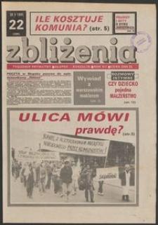 Zbliżenia : tygodnik społeczno-polityczny, 1991, nr 22