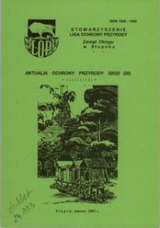 Aktualia Ochrony Przyrody, 2003, nr 20