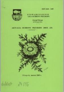 Aktualia Ochrony Przyrody, 2005, nr 25