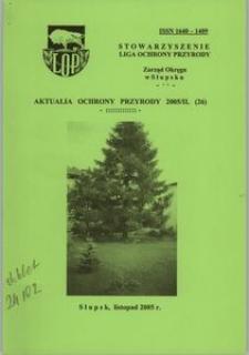 Aktualia Ochrony Przyrody, 2005, nr 26